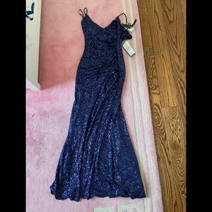 Super cute blue sparkly never worn trixxi dress